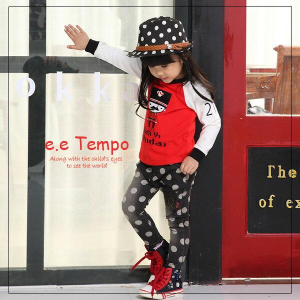 Pink Nana:eetempo童裝男女童格紋造型小紅兵棉質上衣A11139