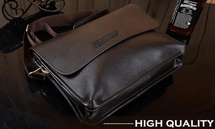 Men Leather Handbag Messenger Shoulder Briefcase 5
