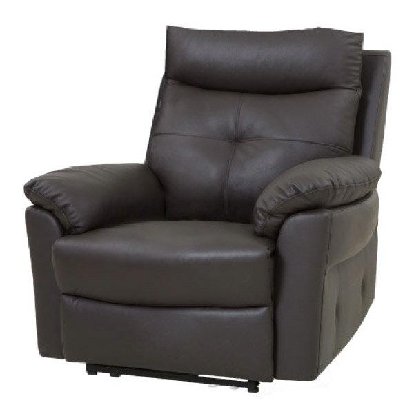 ◎半皮1人用電動可躺式沙發 MEGA DBR NITORI宜得利家居