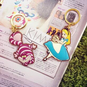 PGS7 日本迪士尼系列商品 - 造型鑰匙圈 史迪奇 小蚌殼 妙妙貓 愛麗絲 三眼怪 奇奇蒂蒂