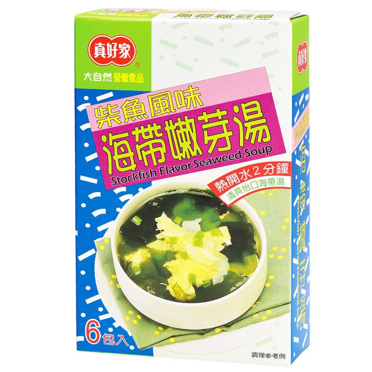 【真好家】柴魚海帶嫩芽湯(4.5gx6包入)
