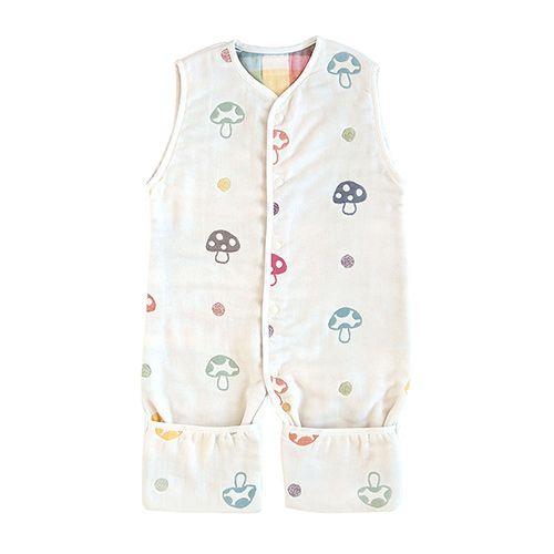 *babygo*日本 Hoppetta-蘑菇六層紗成長型睡褲546515-PI-F