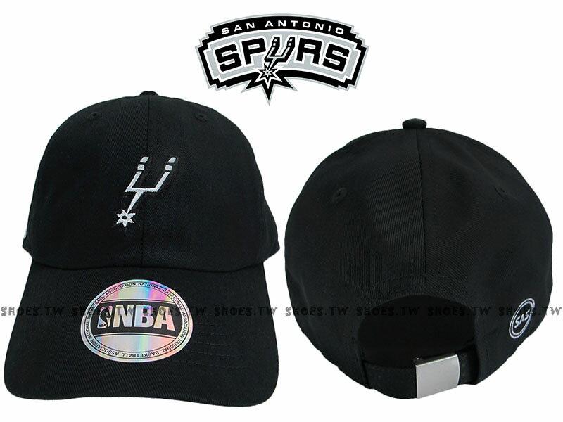 Shoestw【8662003-020】NBA 調整帽 老帽 馬刺隊 黑色 男女都可戴