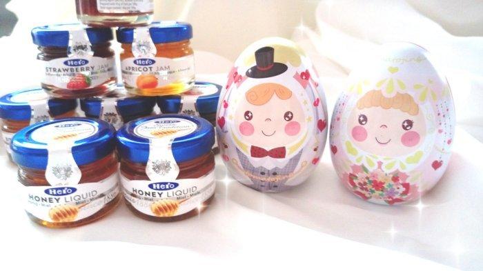 新品~58元  hero蜂蜜喜蛋喜糖盒彩蛋 10個  結婚用品 婚禮小物 禮贈品 ht~0