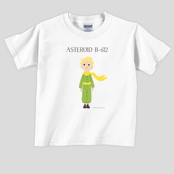 小王子電影版授權 - T恤:【 ASTEROID B-612 】兒童短袖 T-shirt ( 白 / 粉紅 / 水藍  / 麻灰 )