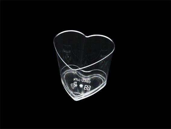 【B7360】慕斯杯、奶酪杯、甜品杯、布丁杯、心型杯(25個+蓋)