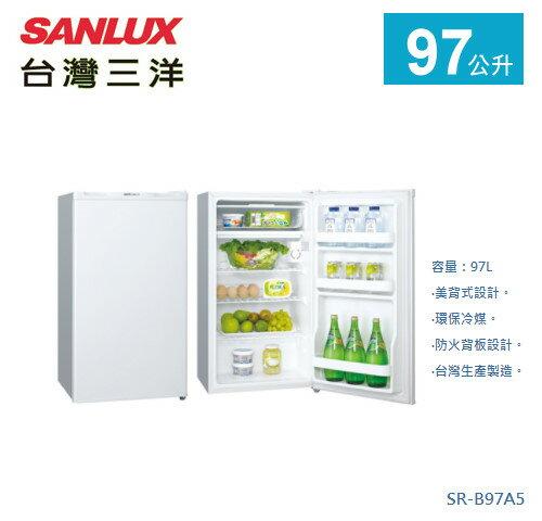 【佳麗寶】-《台灣三洋SANLUX》單門冰箱-97L【SR-B97A5】