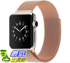 [停產現貨1個] LIANSING 38mm (series 1) 玫瑰金 錶帶 Apple Watch Milanese Loop Band T01