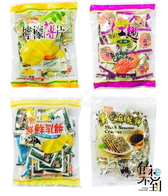 ?福義軒?薄餅400g-紅麴/黑芝麻/檸檬/純鮮乳/湘辣