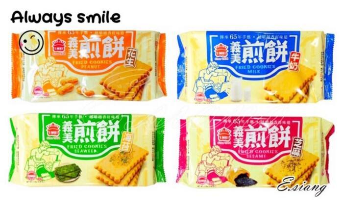 〚義美〛煎餅 115g - 花生/牛奶/海苔/芝麻