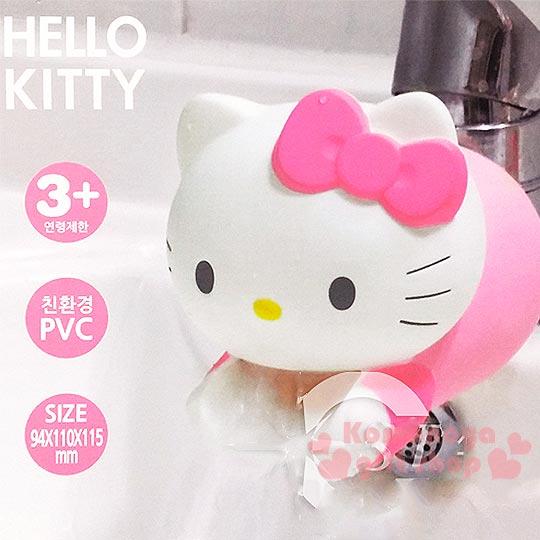 〔小禮堂〕Hello Kitty 造型水龍頭套《白.大臉.伸手》