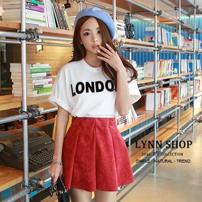 ^~滿520現折 50^~  短袖T恤 字母LONDON印花圓領短袖T恤 4色~15001