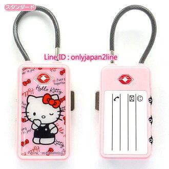 【真愛日本】16100600006海關號碼鎖-KT插畫粉    三麗鷗 Hello Kitty 凱蒂貓 行李箱配件