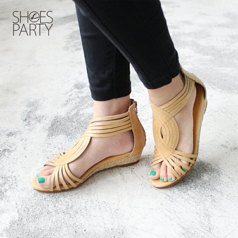 【S2-17118L】拉長下半身比例S型真皮羅馬涼鞋_Shoes Party 3