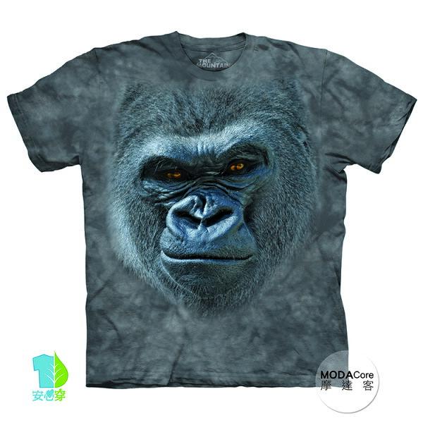 【摩達客】(預購)美國進口TheMountain酷笑猩猩臉純棉環保藝術中性短袖T恤