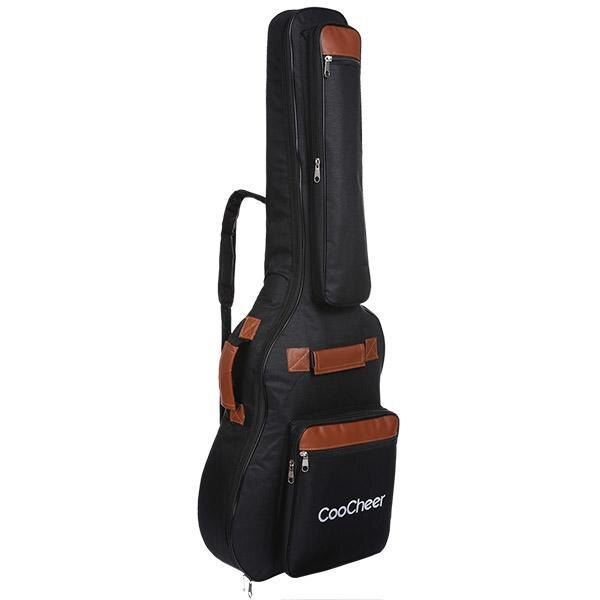 600D Oxford Acoustic Guitar Bag 5-Pocket Padded Gig Bag with Guitar Strap and 12 Pick Samplers 0