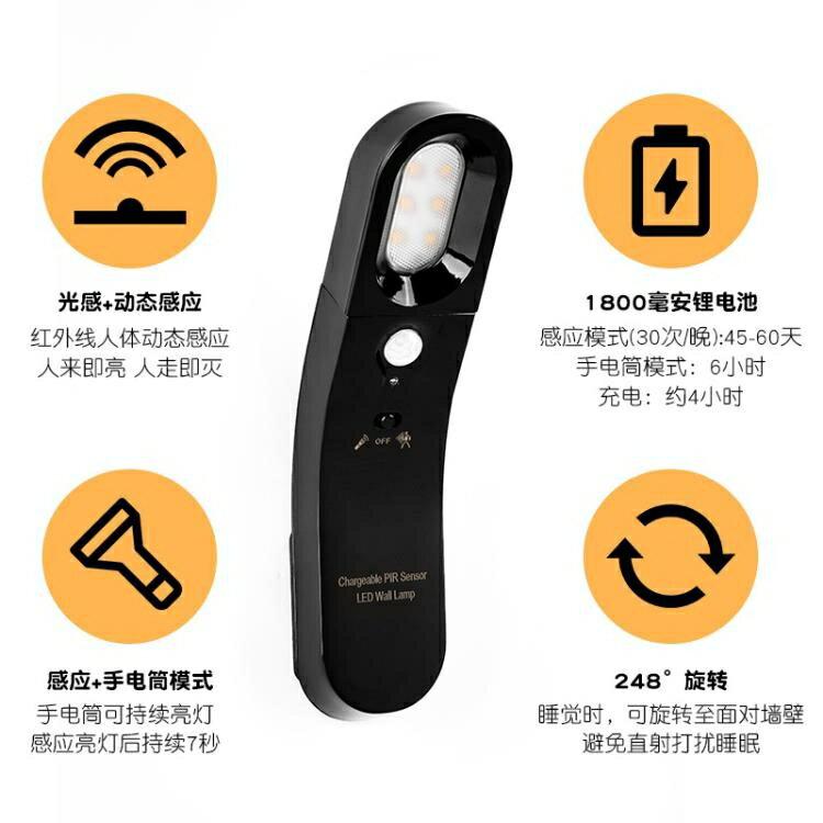 檯燈智慧家居USB人體感應小夜燈創意光控台燈LED禮品床頭燈 交換禮物