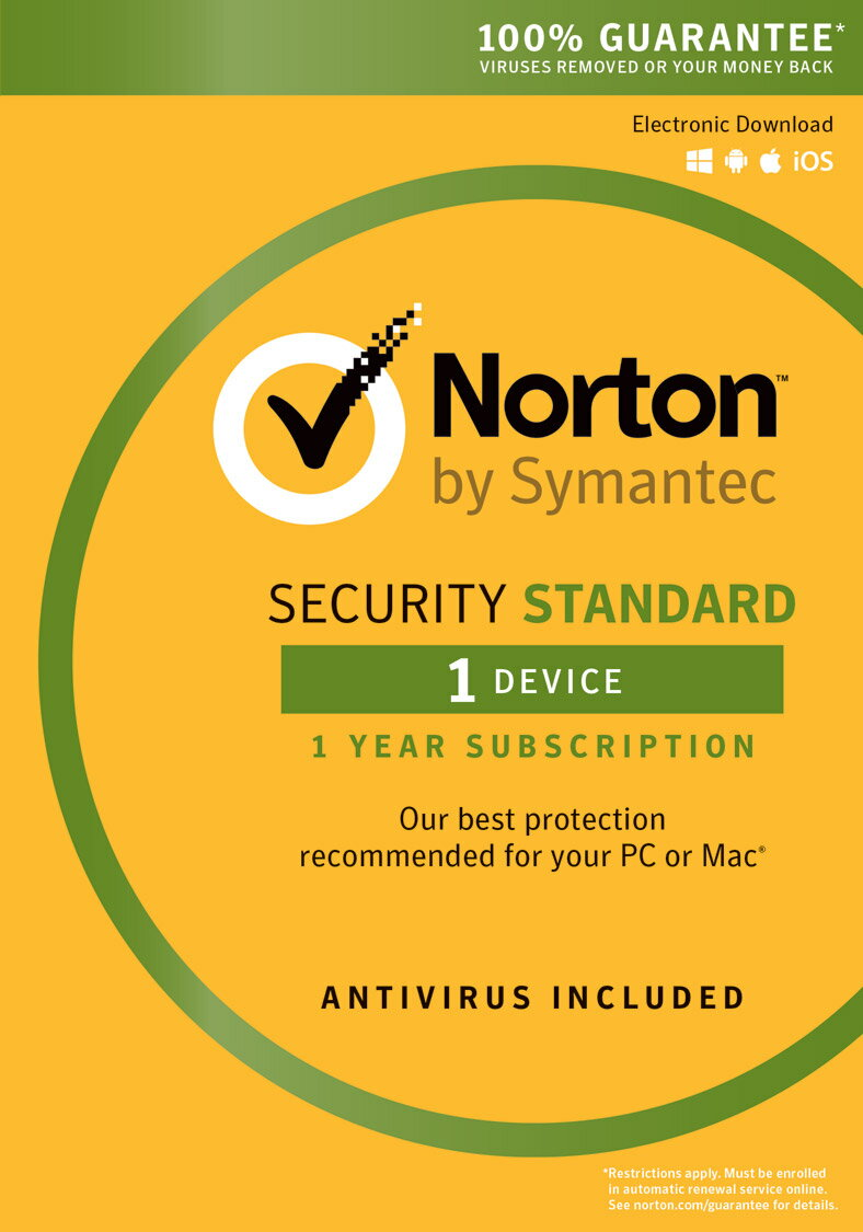 NORTON by Symantec - Security Standard (Email Delivery - 1 Year 1 Device) 0