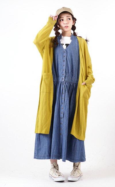 日本e-zakka / 長版無袖牛仔連衣裙 / 32593-1801252  / 日本必買 代購 / 日本樂天直送(5900) 8