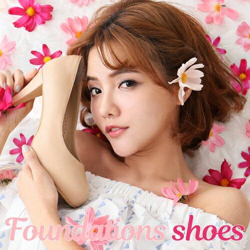 BONJOUR☆美肌粉底液裸色8cm超好穿靜音高跟鞋Foundations Shoes | C. 【ZB0282】自然暖色 0
