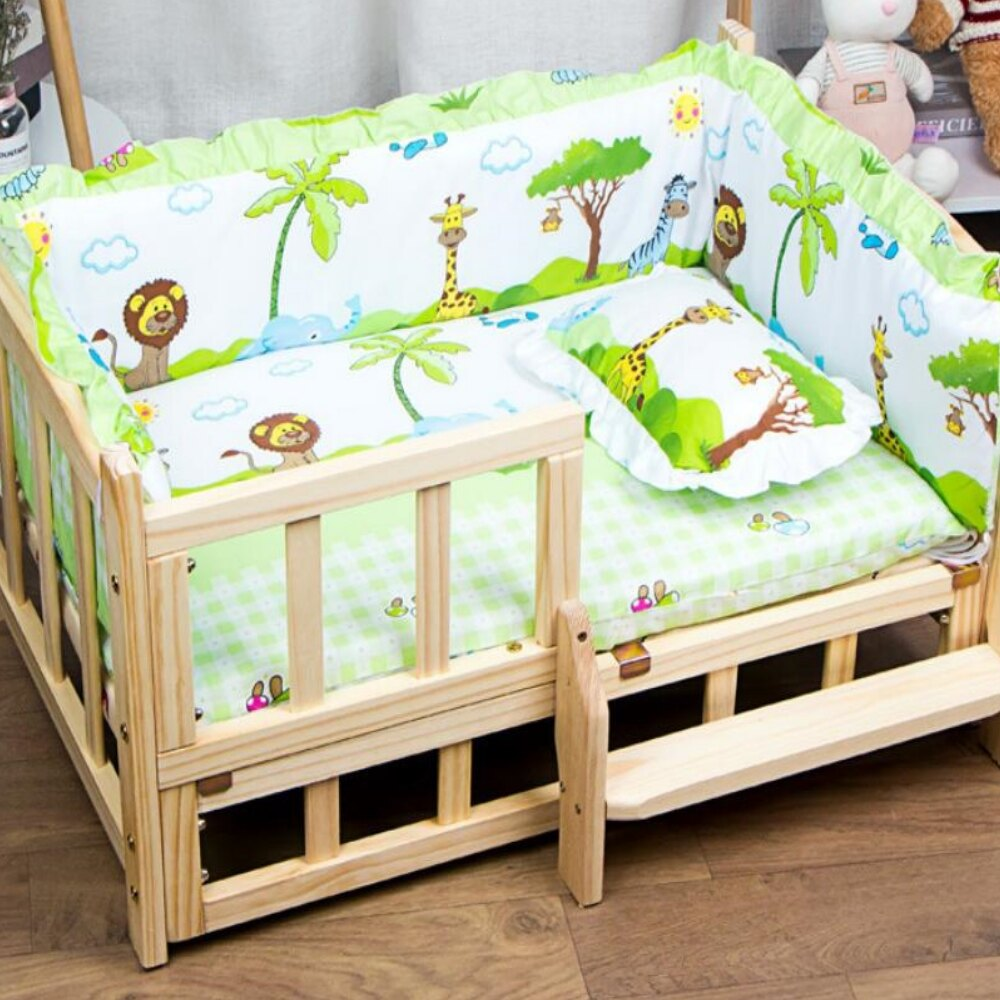 美麗大街 實木狗窩可拆洗小型中型寵物床【109082115】