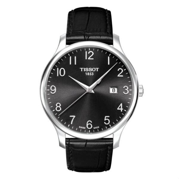 TISSOT天梭表T0636101605200TRADITION簡約數字時尚腕錶黑面42mm
