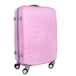 糖衣子輕鬆購【DZ0201】Kitty凱蒂貓拉桿箱旅行箱行李箱登機箱拉桿萬向輪20吋
