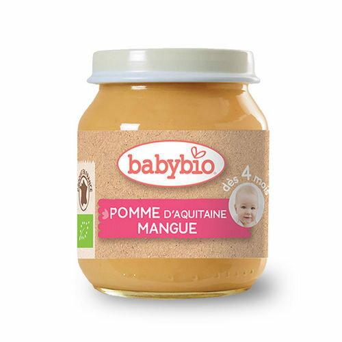 法國倍優Babybio有機蘋果芒果泥4m+有機副食品鮮果泥