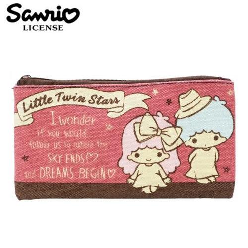 【 】雙子星 KIKILALA 帆布 扁筆袋 M號 鉛筆盒 筆袋 收納包 三麗鷗 Sanrio - 443801