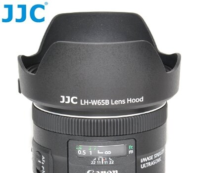 又敗家@JJC副廠花瓣型Canon遮光罩EW-65B遮光罩(可倒裝反扣,相容佳能原廠Canon遮光罩)適EF 24mm 28mm f/2.8 IS USM f2.8 EW65B遮光罩EW-65B太陽罩..