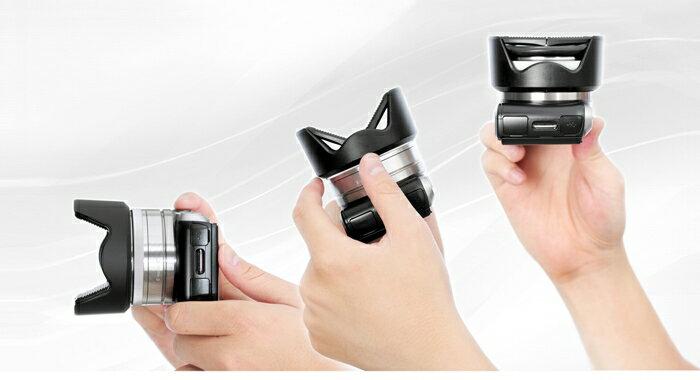 又敗家@可變身遮光罩的鏡頭蓋HOOCAP SH-49A即2合1 SONY遮光罩ALC-SH112+49mm鏡頭蓋ALC-F49S(不用收不用反扣半自動鏡頭蓋)SH49適索尼E 16mm F2.8 18..