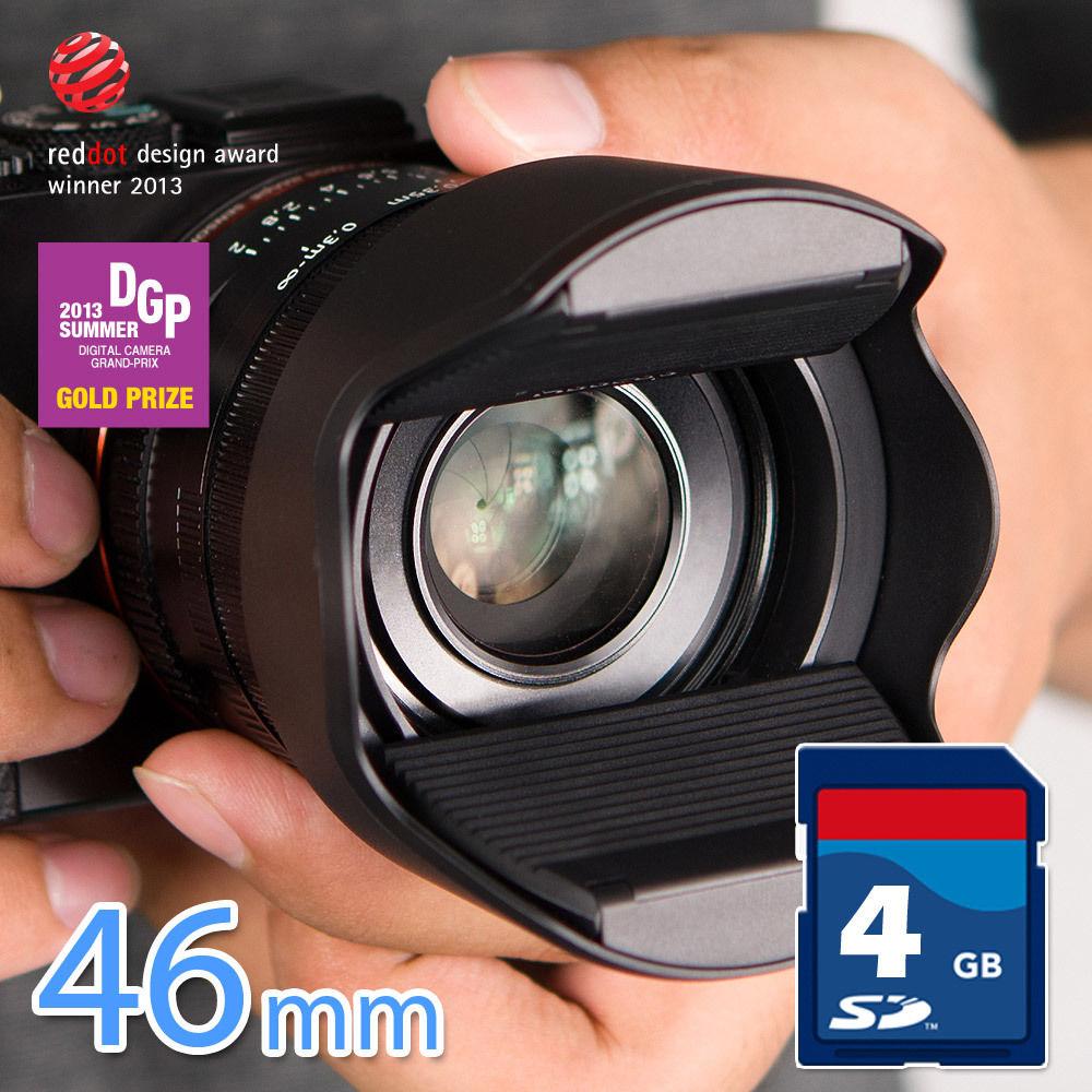又敗家~ Hoocap半自動鏡頭蓋TM46遮光罩鏡頭蓋 取代46mm鏡頭蓋46mm遮光罩適