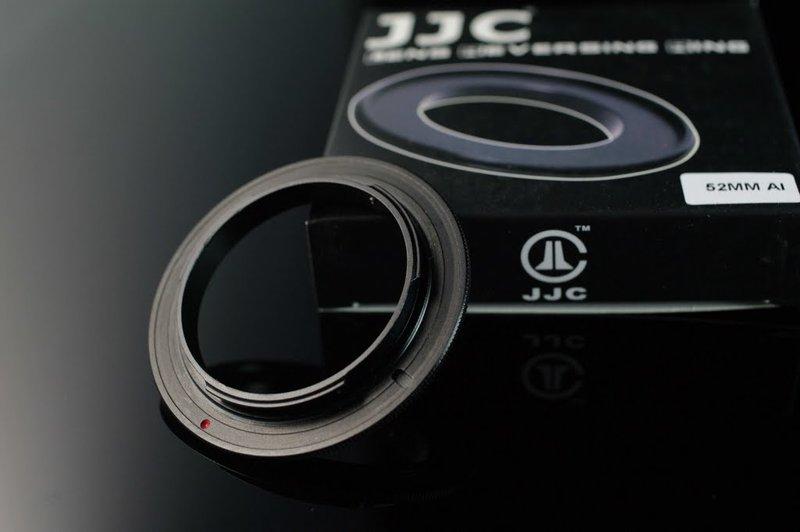 我愛買# JJC 52mm鏡頭倒接環BR-2A倒接環適Nikon機身F卡口(鋁,搭BR-3保護後玉,非原廠倒接環)52mm倒接環窮人微距鏡頭MACRO鏡MICRO鏡