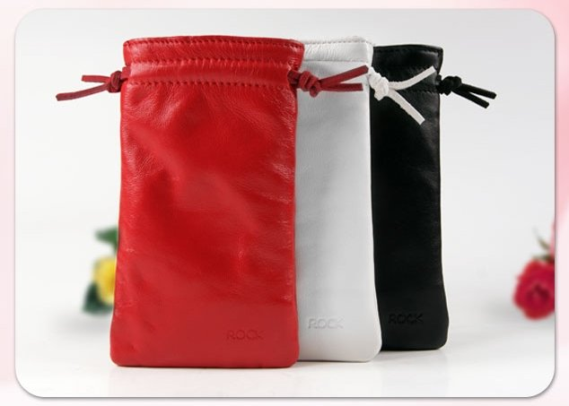 我愛買#洛克ROCK羊皮手機套手機袋EROS防輻射款Apple蘋果iPhone iPod
