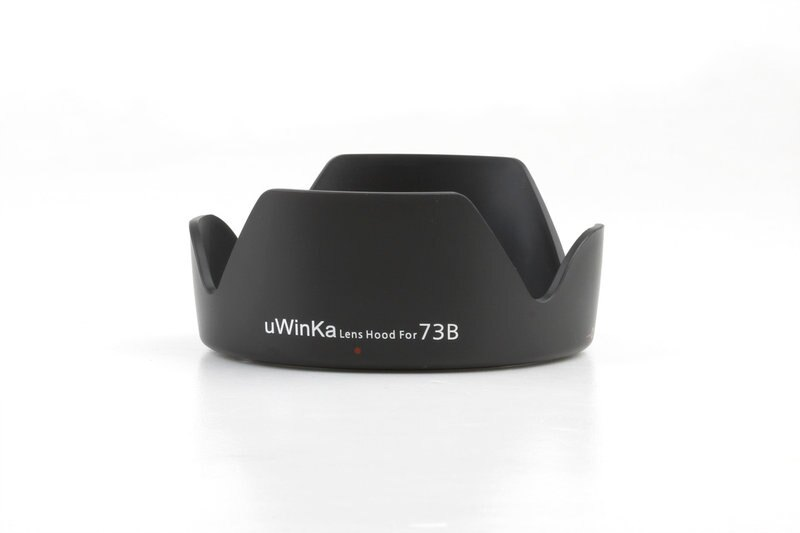 又敗家@uWinka副廠Canon EW-73B遮光罩適EF-S 18-135mm f3.5-5.6 IS STM 17- 85mm F4-5.6 IS佳能副廠蓮花遮光罩相容原廠Canon遮光罩EW7..