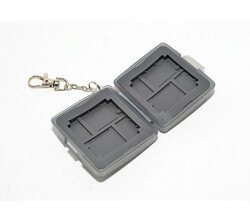 又敗家@(灰色)JJC Micro SD.XD.CF記憶卡儲存盒MC-6D(附鑰匙鏈) 記憶卡收納盒記憶卡保存盒記憶卡保 護盒Micro SD卡盒CF記憶卡盒XD儲卡盒 memory card storage box