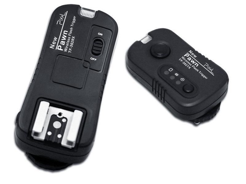 我愛買#品色Pixel Panasonic Olympus引閃器觸發器兼無線電快門遙控器PAWN TF-364適FL-50R FL-36R DMW-FL360(NCC認證,可換不同相機連接線可控制不同..