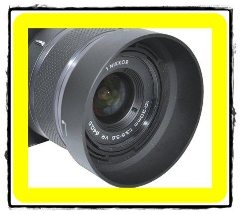 我愛買# JJC Nikon HB-N101遮光罩HBN101遮光罩(副廠遮光罩非Nikon原廠遮光罩)適1 NIKKOR 10-30mm f/3.5-5.6 VR f3.5-5.6