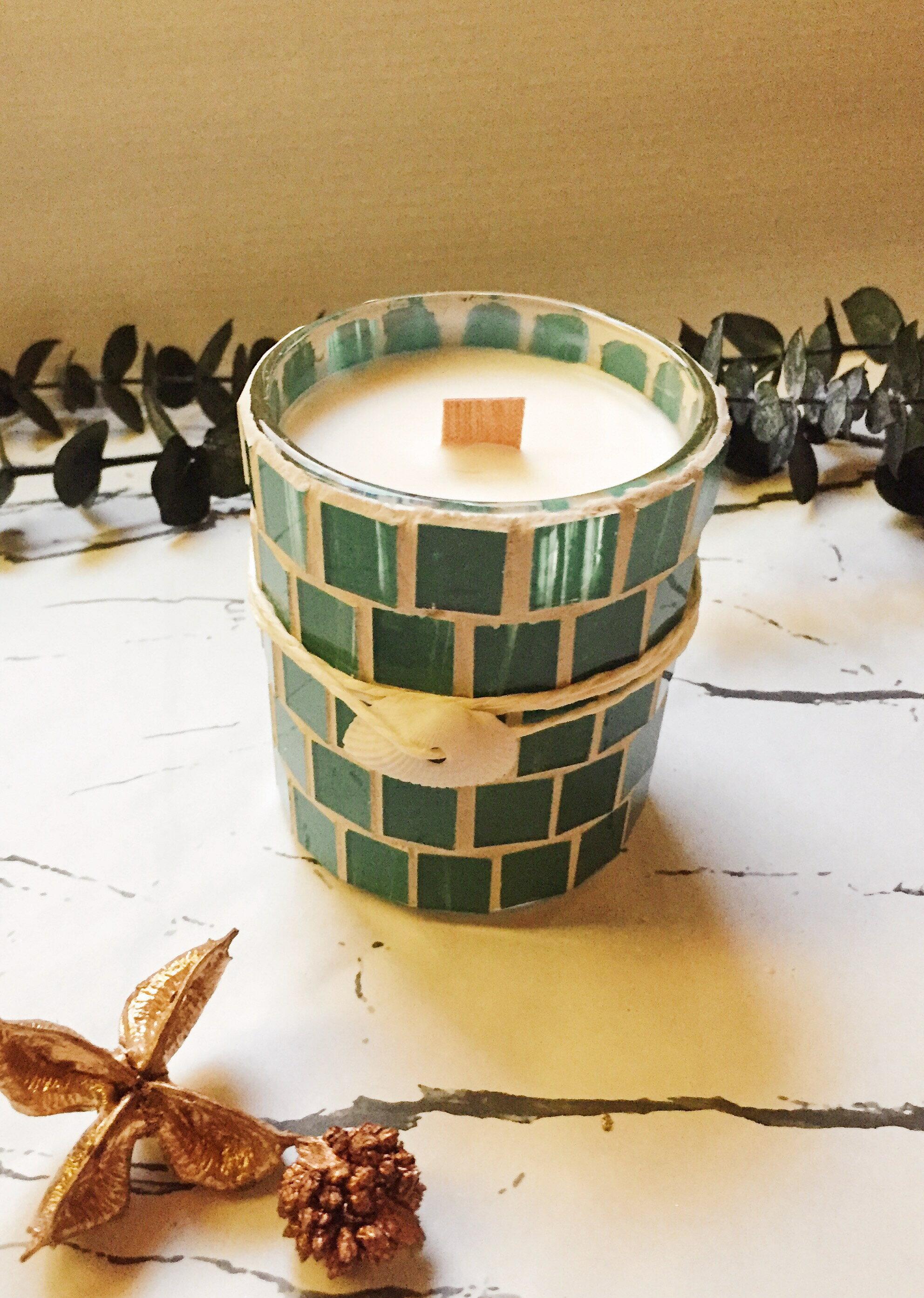 地中海清新舒壓香氛蠟燭 **天然大豆精油蠟燭**  香氛手工製作 情人節禮物 生日禮物 結婚送禮