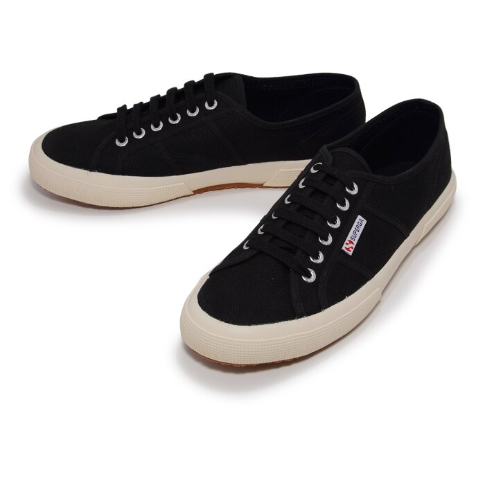 【SUPERGA】義大利國民鞋-黑 Cotu - Classic2750【全店免運】 2
