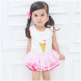 Augelute Baby 無袖立體冰淇淋蓬蓬包屁裙 32151