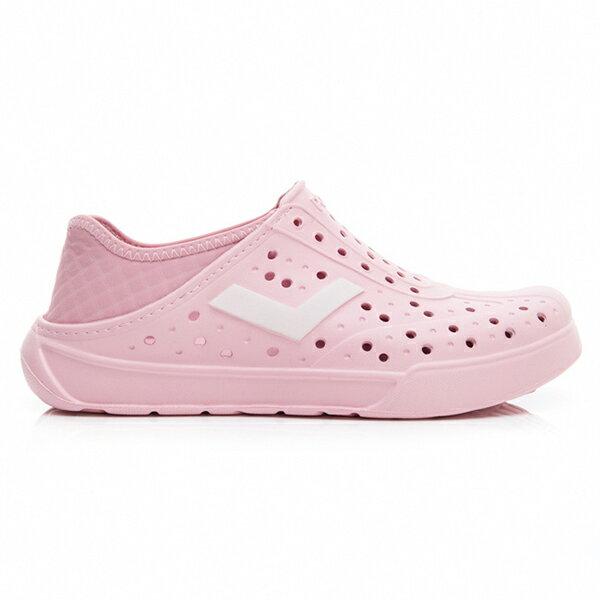 《2019新款》Shoestw【92U1SA03PK】PONY Enjoy 洞洞鞋 水鞋 海灘鞋 可踩跟 懶人拖 菱格紋 全粉紅 白V 男女尺寸都有 1