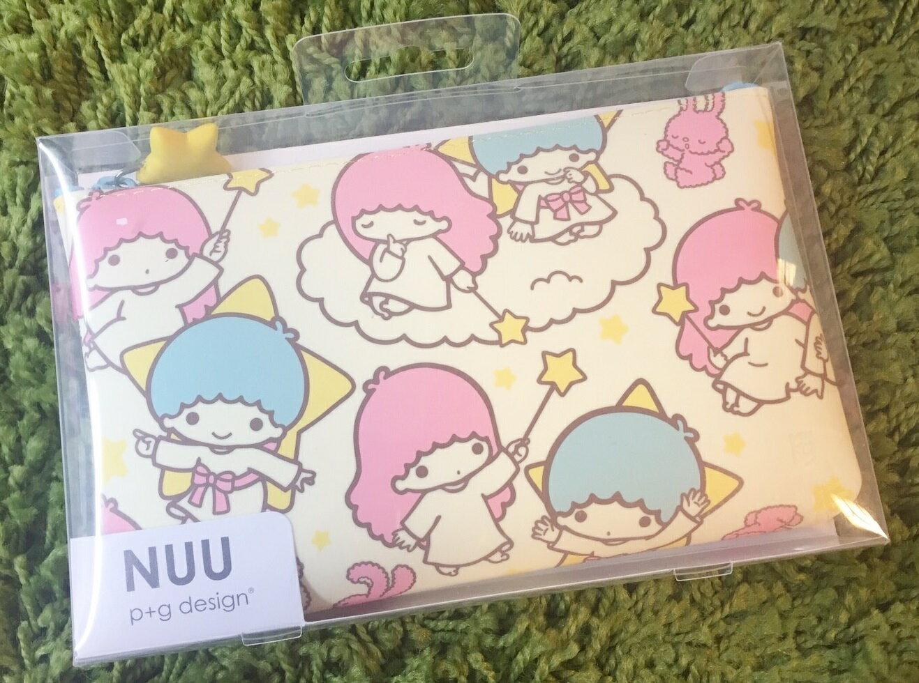 【真愛日本】16081000004矽膠拉鍊筆袋-TS滿版星星棒   三麗鷗家族 Kikilala 雙子星    收納 筆袋