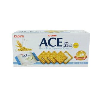 優龍ACE五穀牛奶夾心餅乾 128g【愛買】