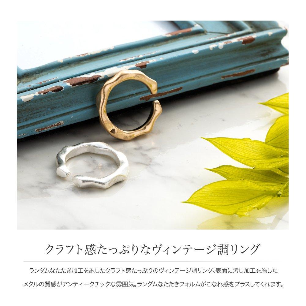 日本CREAM DOT  /  リング 指輪 金属アレルギー ニッケルフリー レディース 12号 ファッションリング クラフト調 メタル たたき加工 大人カジュアル シンプル 可愛い ゴールド シルバー  /  d00080  /  日本必買 日本樂天直送(790) 2