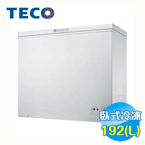 東元 TECO 單門上掀式冷凍櫃 RL1988W 【送標準安裝】