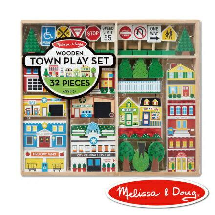 美國瑪莉莎Melissa&Doug交通工具-木製城市遊戲組【寶貝樂園】