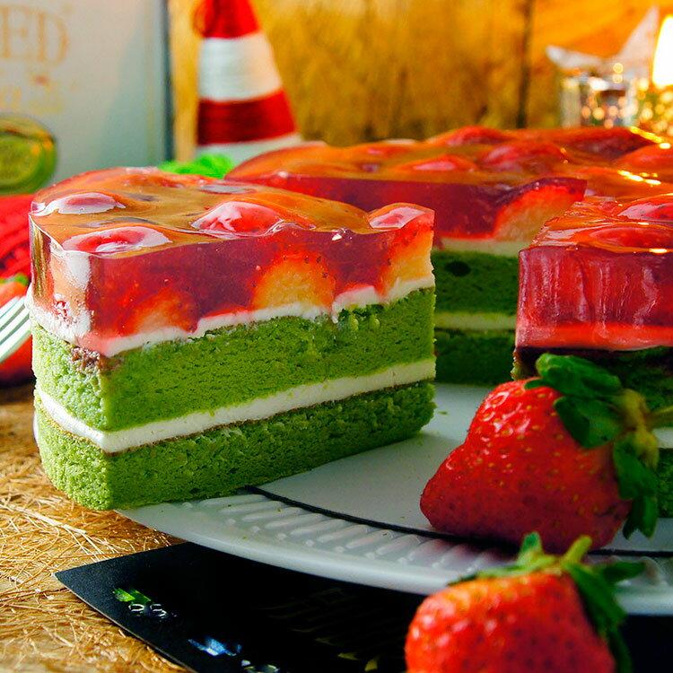 絕配!草莓抹茶蛋糕