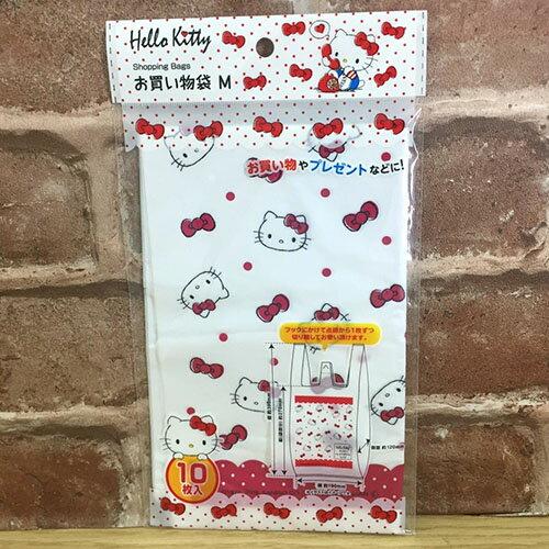 【真愛日本】 17071400015 簡易環保提袋M-十入KT多圖 三麗鷗 kitty 凱蒂貓 手提袋 購物袋