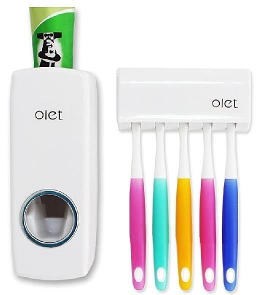 奧萊特 OLET 全自動擠牙膏器 牙膏擠壓器 送牙刷架 ☆真愛香水★